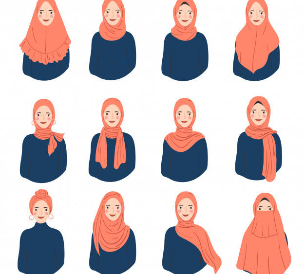 jilbab hijab kerudung bahasa