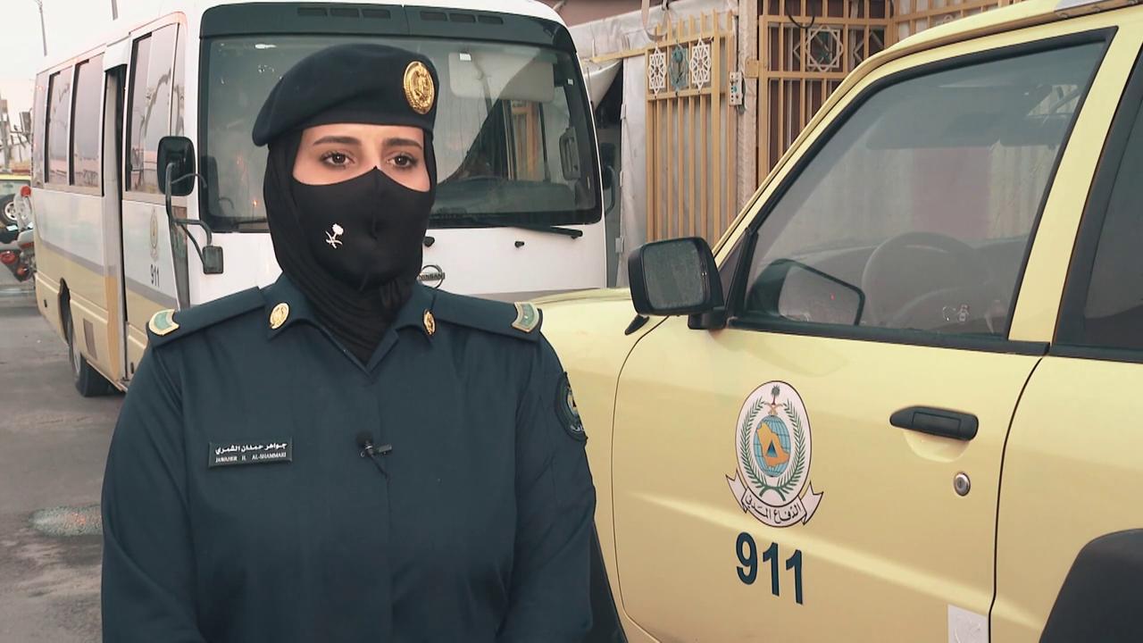 polisi perempuan penjagaan haji