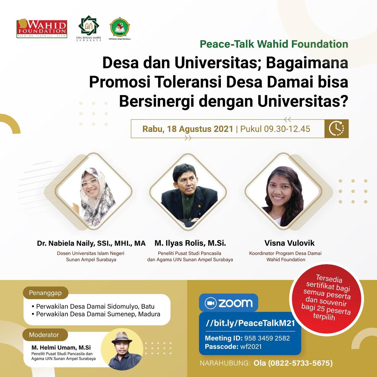wahid foundation gerakan perdamaian